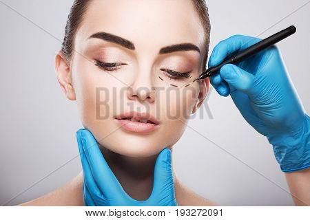 Perforation Lines On Patient's Face