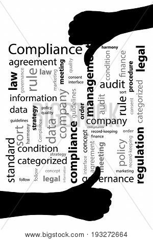 Compliance Concept. Vector Illustration