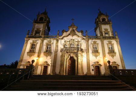 Misericordia Church main entrance, Viseu, Portugal