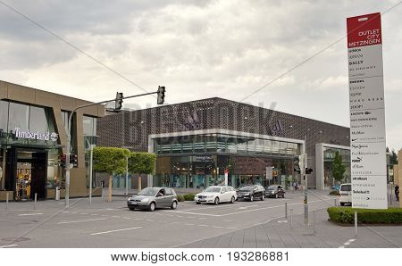 GERMANY - May 30 2012: outlet city Metzingen- the center of sales near Munich