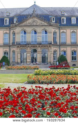 STUTTGART GERMANY- MAY 31 2012: Neues Schloss (New Castle). Palace of the 18th century in baroque style in Germany Stuttgart