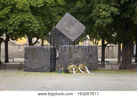 STUTTGARTGERMANY- MAY 31 2012: Memorial For The Victims Of National Socialism in Stuttgart