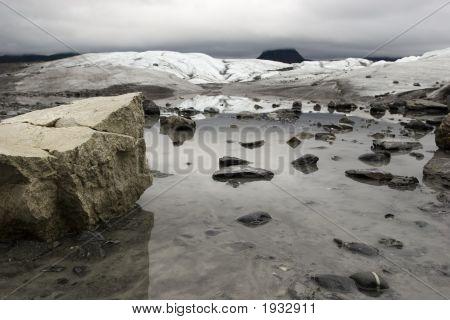 Little Lake On Top Of Matanuska Glacier