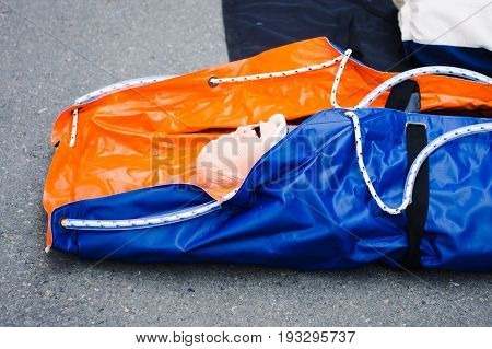 Mannequin for training first aid and resuscitation skills