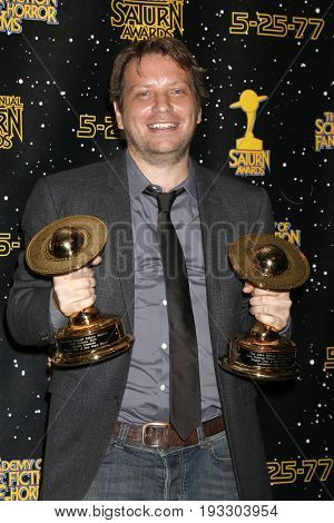 LOS ANGELES - JUN 28:  Gareth Edwards at the 43rd Annual Saturn Awards - Press Room at the The Castawa on June 28, 2017 in Burbank, CA