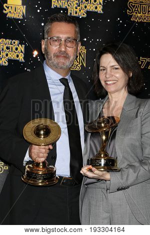 LOS ANGELES - JUN 28:  Rick Jaffa, Amanda Silver at the 43rd Annual Saturn Awards - Press Room at the The Castawa on June 28, 2017 in Burbank, CA
