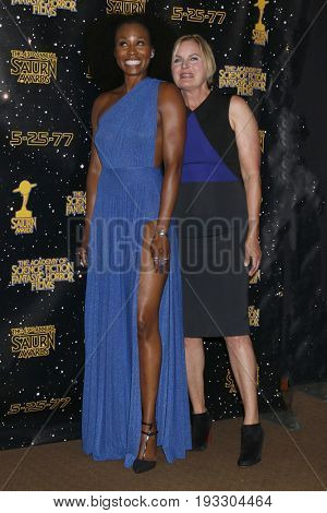 LOS ANGELES - JUN 28:  Sydelle Noel, Denise Crosby at the 43rd Annual Saturn Awards - Press Room at the The Castawa on June 28, 2017 in Burbank, CA