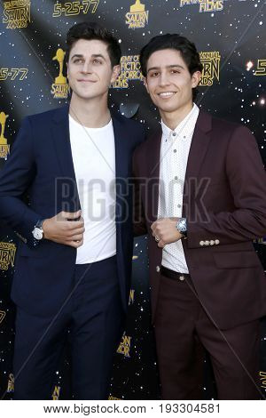 LOS ANGELES - JUN 28:  David Henrie, Lorenzo James Henrie at the 43rd Annual Saturn Awards - Arrivals at the The Castawa on June 28, 2017 in Burbank, CA