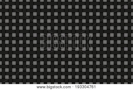 Black weave abstract background black interlaced grid with shadows