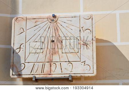 Sundial In Evora, Portugal