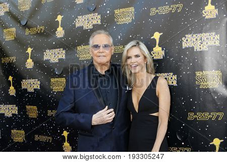 LOS ANGELES - JUN 28:  Lee Majors, Faith Majors at the 43rd Annual Saturn Awards - Arrivals at the The Castawa on June 28, 2017 in Burbank, CA