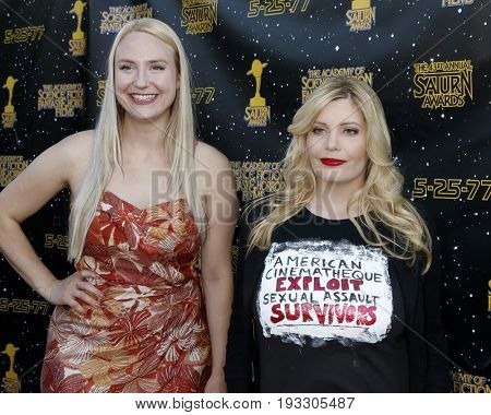 LOS ANGELES - JUN 28:  Stephanie Paris, Emma Julia Jacobs at the 43rd Annual Saturn Awards - Arrivals at the The Castawa on June 28, 2017 in Burbank, CA