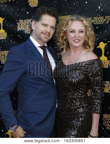 LOS ANGELES - JUN 28:  Nick Holmes, Virginia Madsen at the 43rd Annual Saturn Awards - Arrivals at the The Castawa on June 28, 2017 in Burbank, CA