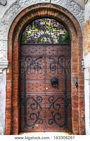 A High Dynamic Range image of a door in Venice Italy.