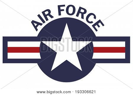 Air Force Roundel on White Background