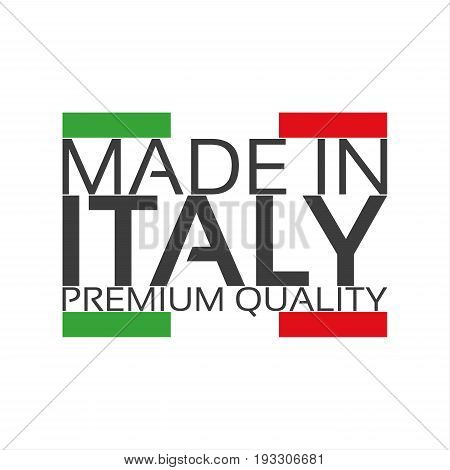 Made in Italy premium quality sticker with Italian color vector illustration