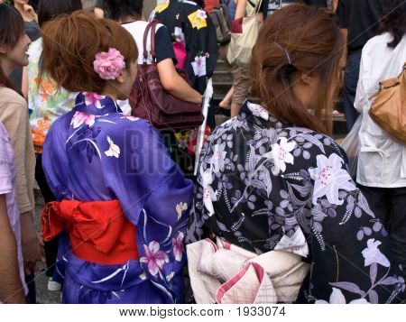 Girls In Traditional Clothing