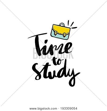 Time to Study calligraphy handwritten text background