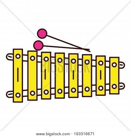 xylophone instrument musical icon vector illustration design