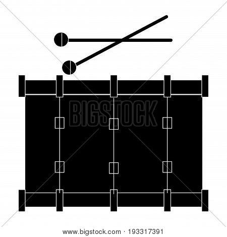 band drum musical instrument vector illustration design
