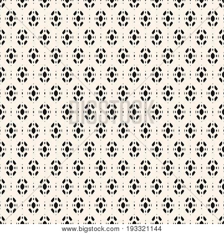 Subtle abstract geometric background. Vector seamless ornament pattern. Monochrome texture with smooth ovate geometrical shapes. Decorative design element for prints, fabric, textile, home, decor, cloth.