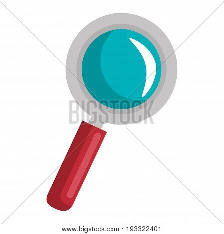 lupe icon over white background colorful design vector illustration