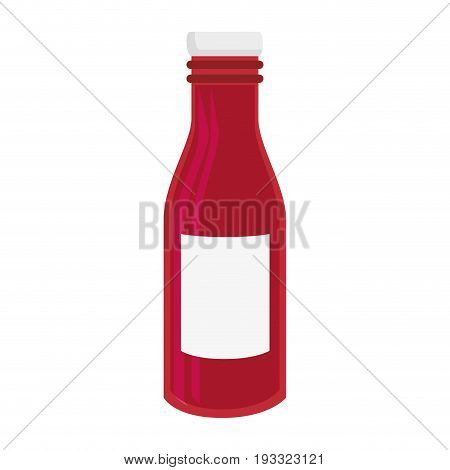 ketchup bottle icon over white background colorful design vector illustration