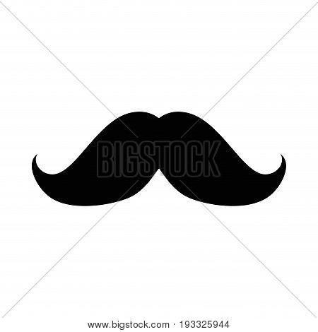 mustache icon over white background vector illustration
