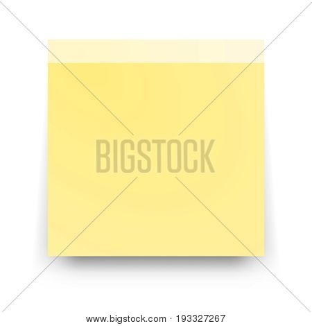 Post blank sticky note paper sheet vector  Reminder stick note