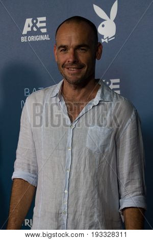 San Diego, CA - July 26, 2014:  Paul Blackthorn of the CWs Arrow arrives at A&E / Playboy event at Comic Con 2014 in San Diego, CA.