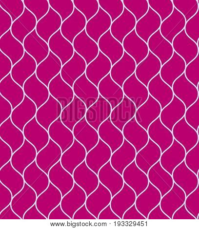 Purple vector wavy grid or chain seamless pattern. Nice fashion texture with light blue chain on pink background for textile wallpapers wrapping paper covers banners