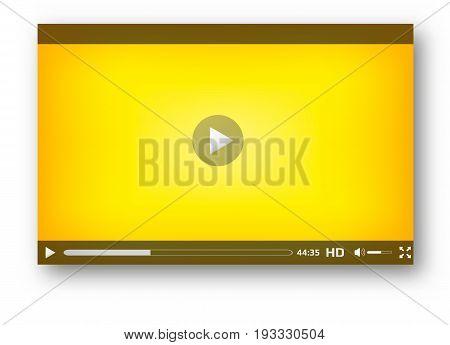 Video player  interface play bar  design  modern
