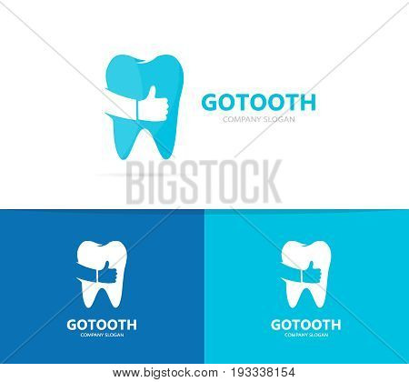 tooth and like logo combination. Dental and best symbol or icon. Unique clinic and oral logotype design template.
