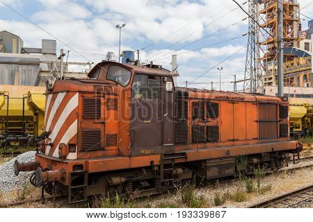 Train Wagon With Industrial Building Factory