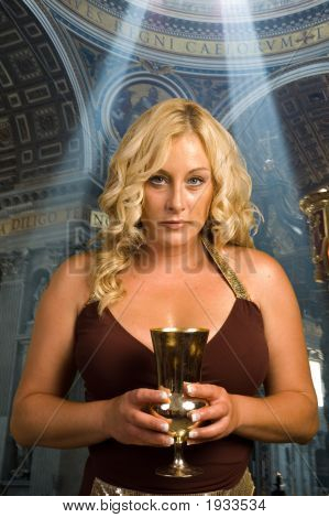Woman Holding Chalice