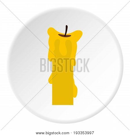 Extinguished candle icon in flat circle isolated on white vector illustration for web