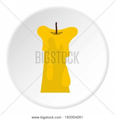 Long candle icon in flat circle isolated on white vector illustration for web