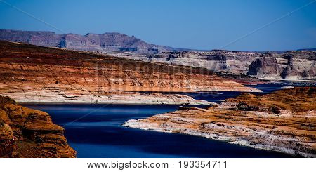 View from Glen Canyon Dam northern Arizona,