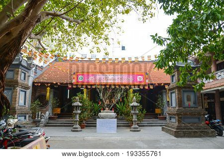 Hanoi Vietnam - Feb 20 2017 : Ba Da pagoda temple in Hanoi Vietnam