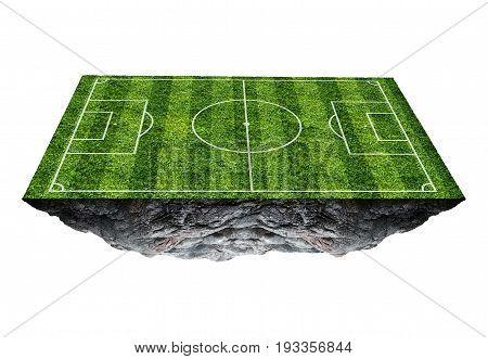 Soccer field floating island. football field, illustration