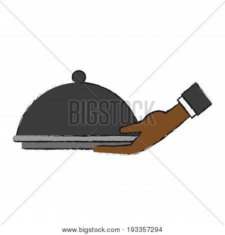 Fine chef restaurant food draw vector illustration design graphic