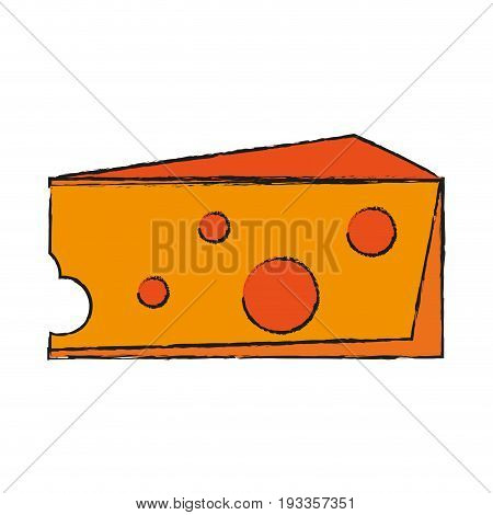 Salted cheese food draw vector illustration design graphic