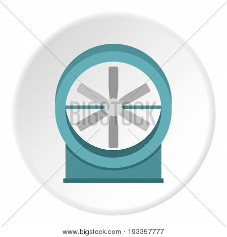 Modern heater icon in flat circle isolated on white vector illustration for web