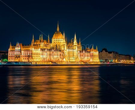 Evening View Of Parliament Building