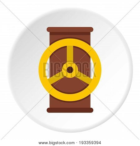 Electric motor icon in flat circle isolated on white vector illustration for web