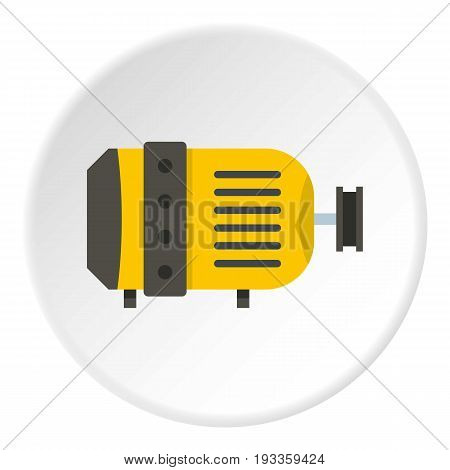 Propeller icon in flat circle isolated on white vector illustration for web