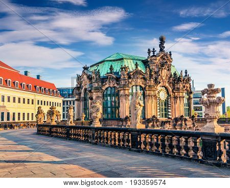 Morning View Of Famous Zwinger Palace (der Dresdner Zwinger) Art Gallery Of Dresden
