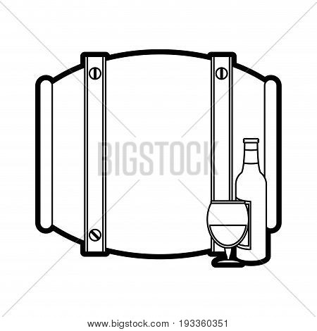 Barrel beverage dispenser paint vector illustration design graphic