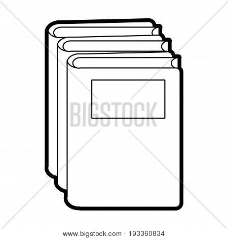 Reading book separator paint vector illustration design graphic