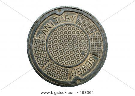 Manhole Cover, Isolated